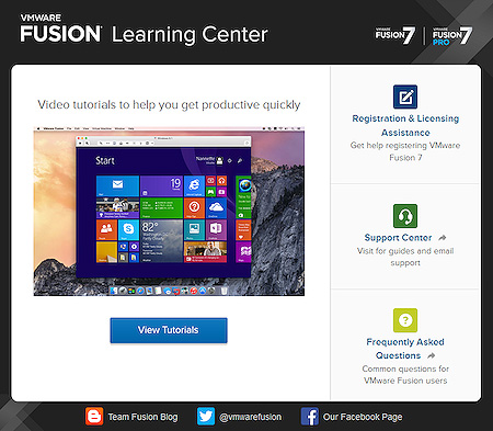 VMware Fusion 7 Learning Center